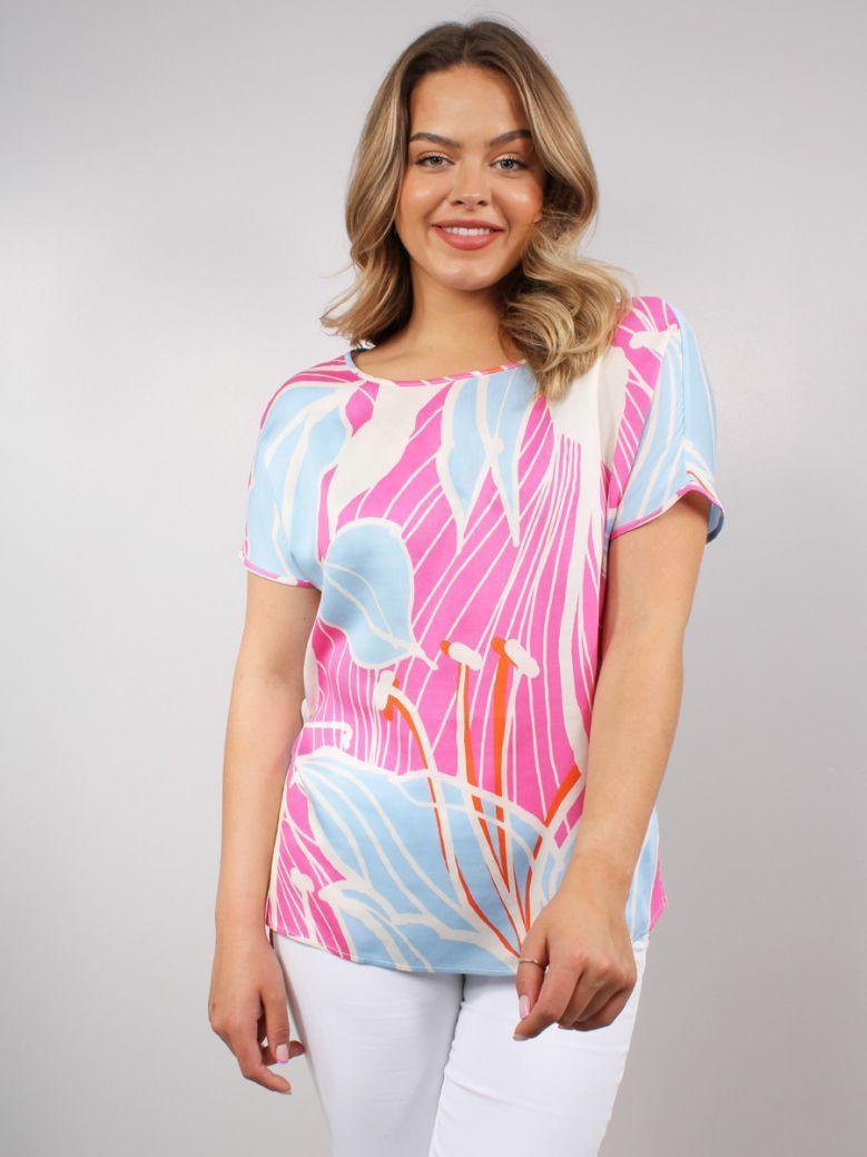 Milano Multi Pink Print Blouse