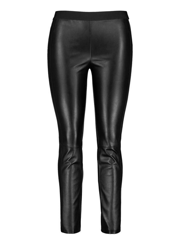 Samoon Black Leather Look Trousers