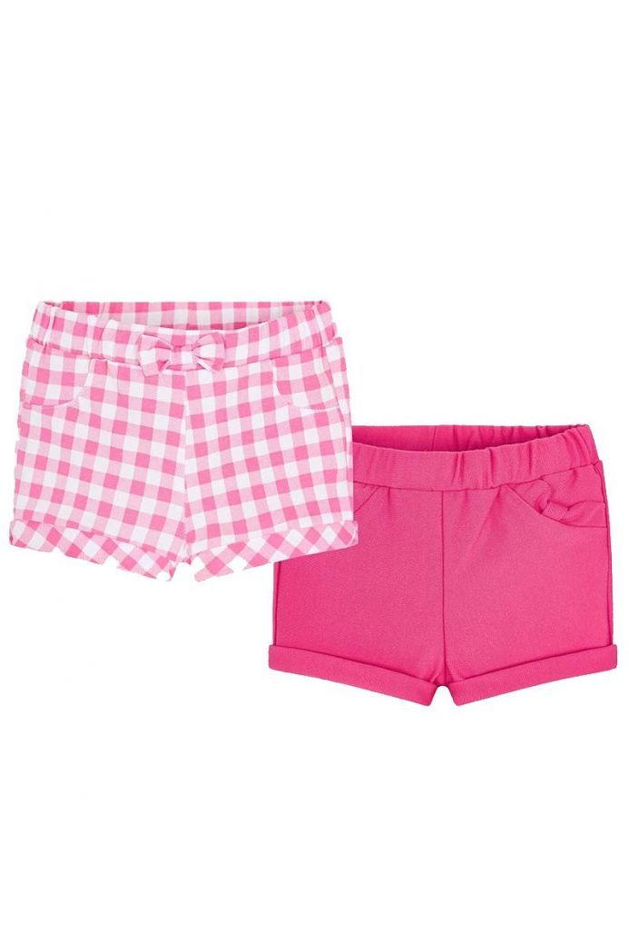 Mayoral Pink & White 2 Pack Shorts