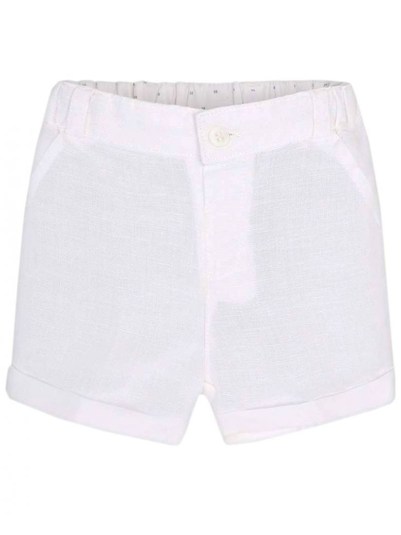 Mayoral White Formal Shorts