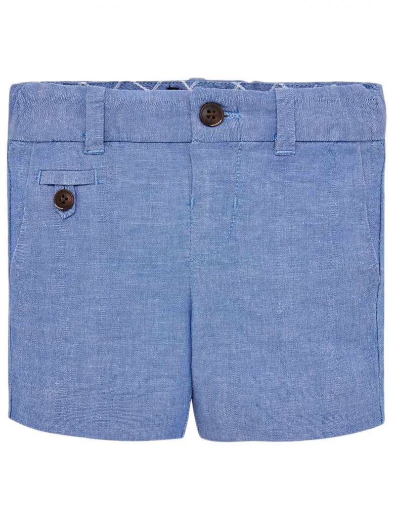 Mayoral Lavender Blue Formal Linen Bermuda Shorts