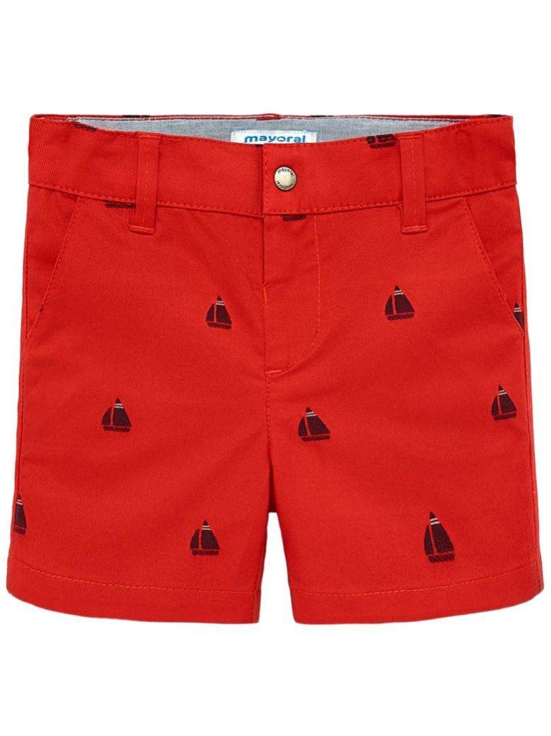 Mayoral Rojo Patterned Bermuda Shorts