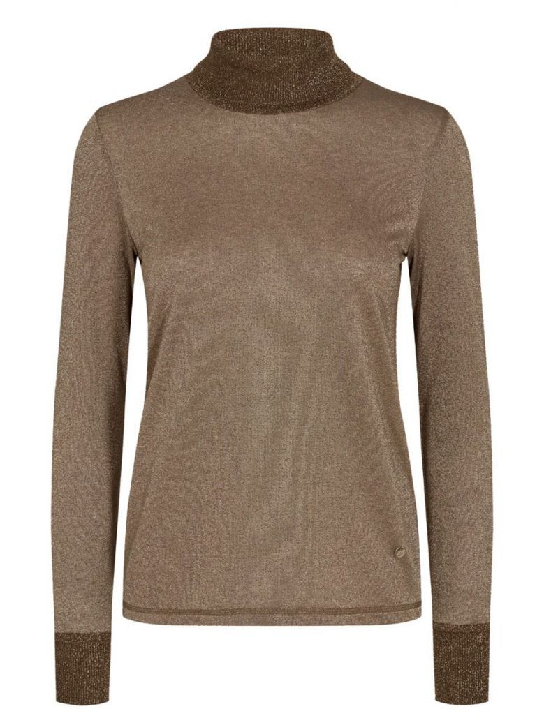 Mos Mosh Chocolate Chip Casio Roll-Neck Long Sleeve Top
