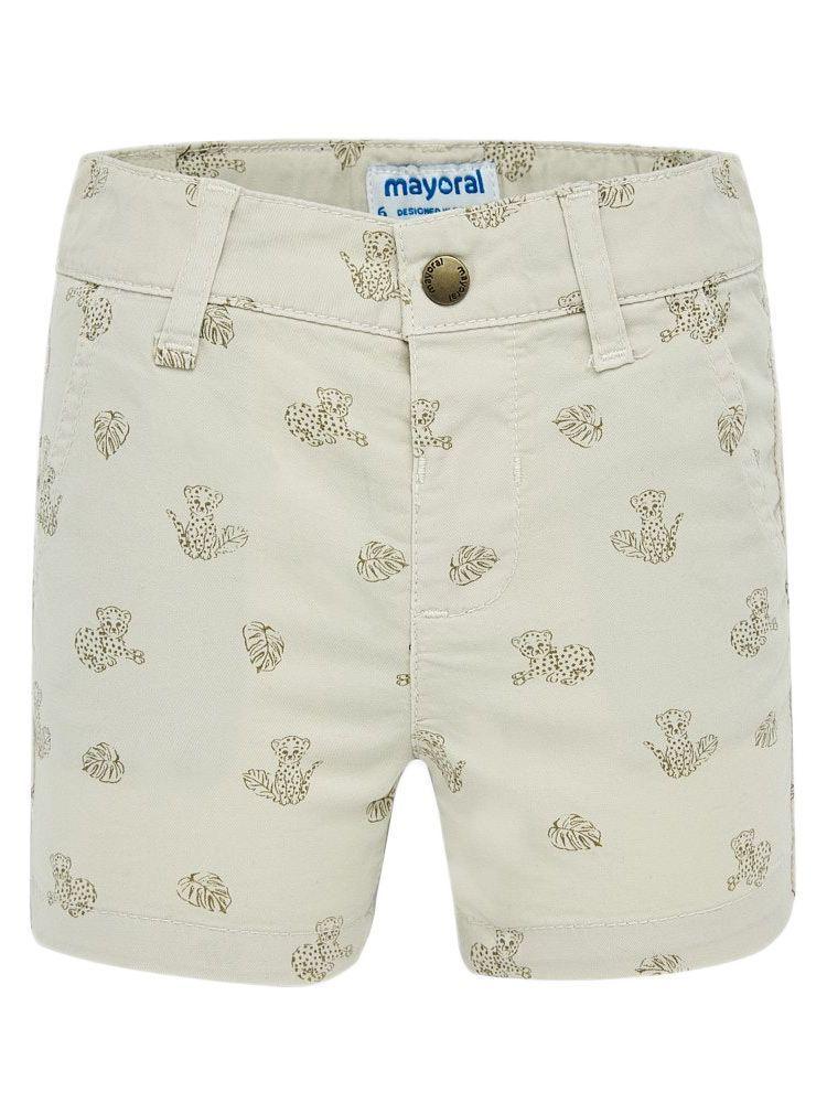 Mayoral Beige Micro-Patterned Bermuda Shorts