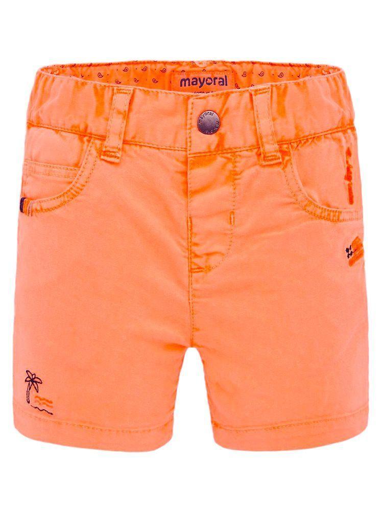 Mayoral Neon Mango Embroidered Bermuda Shorts