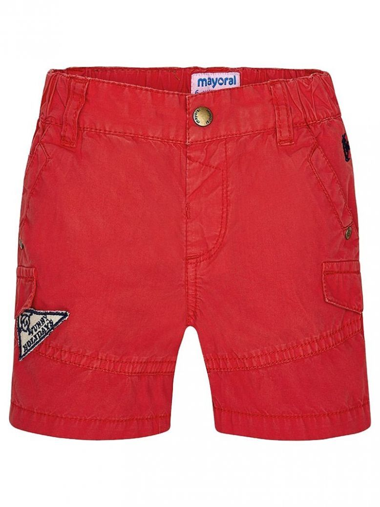 Mayoral Red Cargo Shorts