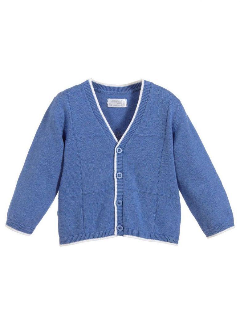 Mayoral Azure Blue Knit Cardigan