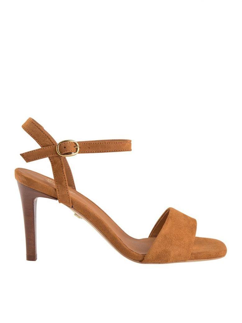 Mos Mosh Tan Rio Suede Stiletto Sandals
