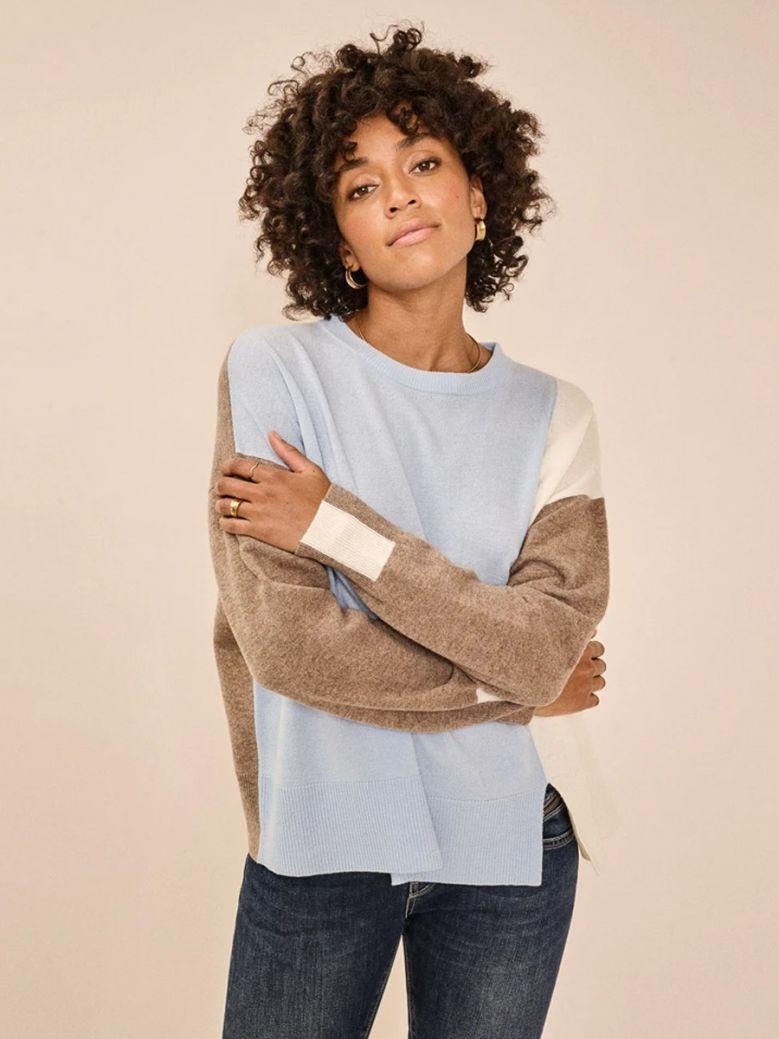 Mos Mosh Bel Air Blue Layla O-Neck Knit