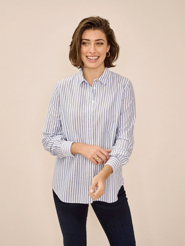 Mos Mosh Ladies Bel Air Blue Karli Stripe Shirt