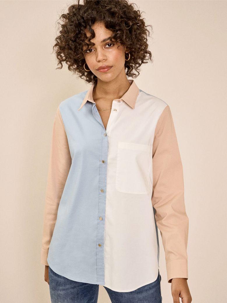 Mos Mosh Ladies Bel Air Blue Bella Block Shirt