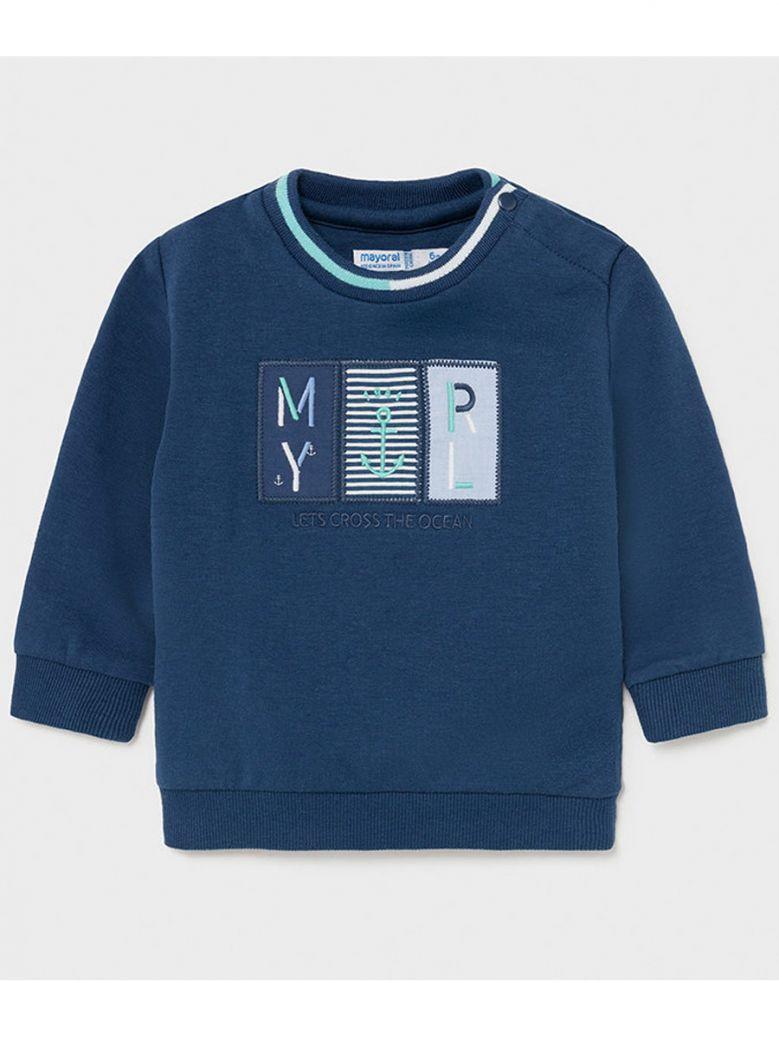Mayoral Navy Blue Print Sweatshirt