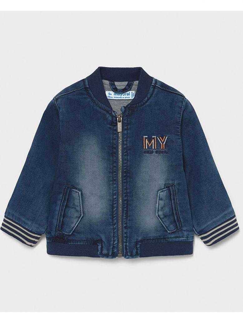 Mayoral Soft Denim Zip Up Jacket