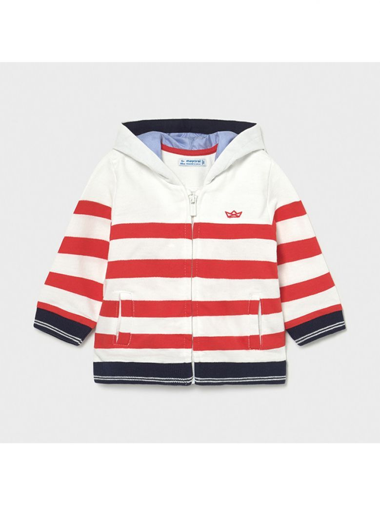 Mayoral Cyber Red Striped Hoody