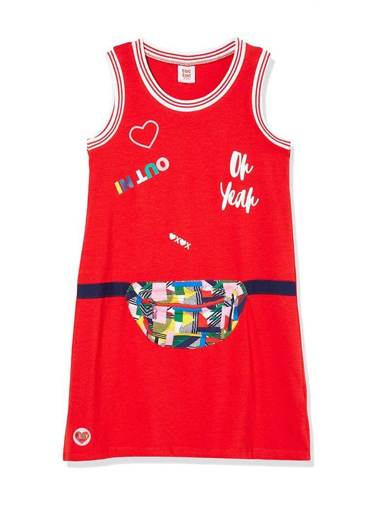 Tuc Tuc Kids Rojo Jersey Dress