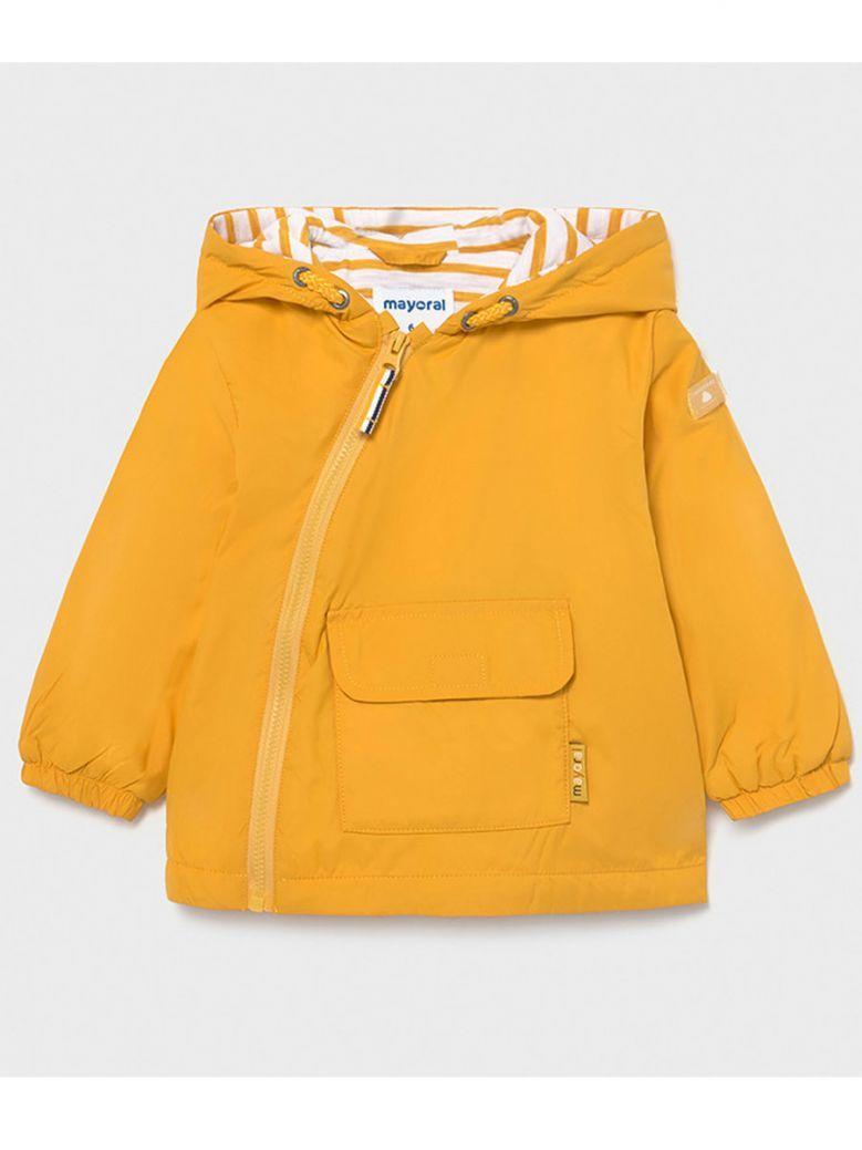 Mayoral Yellow Side Zip Hooded Windbreaker