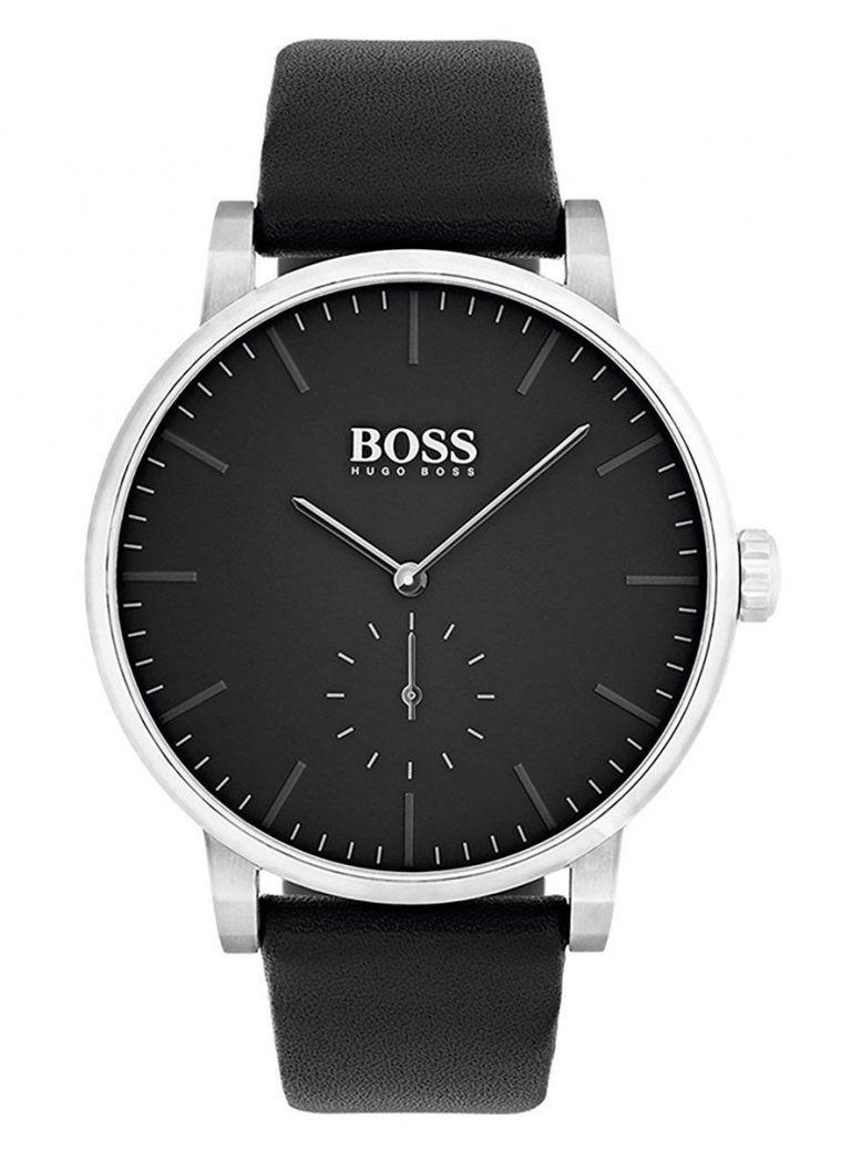 Hugo Boss Black Essence Leather Strap Watch