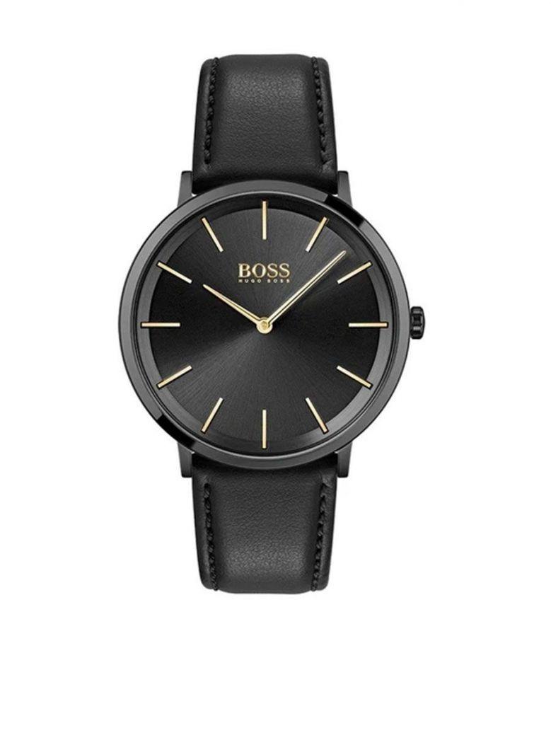 Hugo Boss Skyliner Black Leather Men's Watch