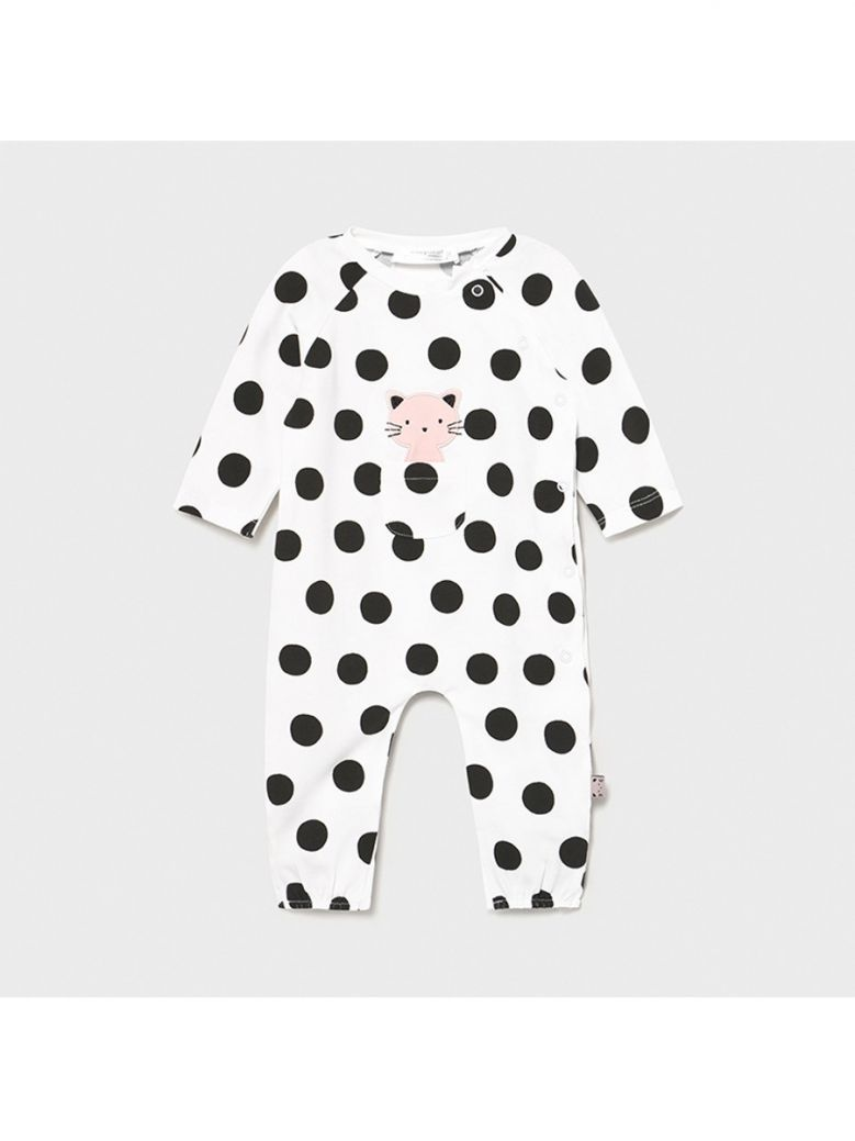 Mayoral Spotty Knit Babygro for Newborn Girl in Gift Box