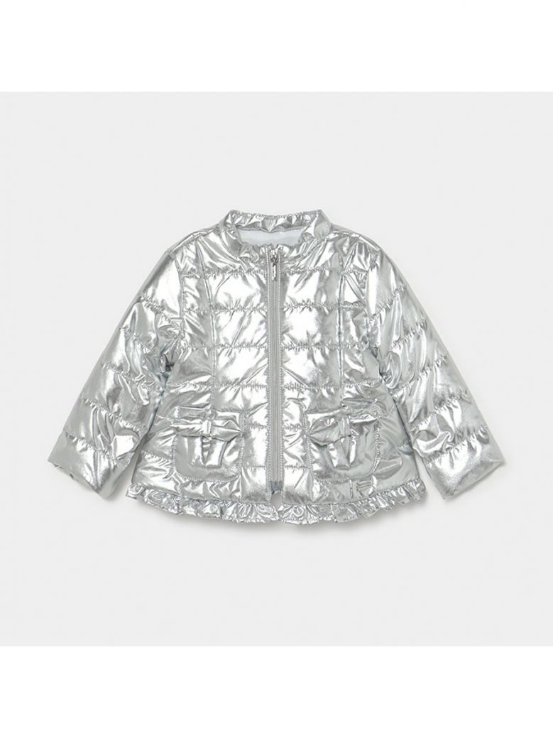 Mayoral Silver Soft Windbreaker with Bows