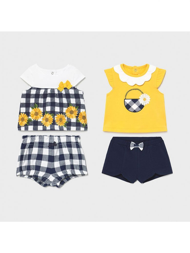 Mayoral Navy 4 Piece Knit Set for Newborn Girl