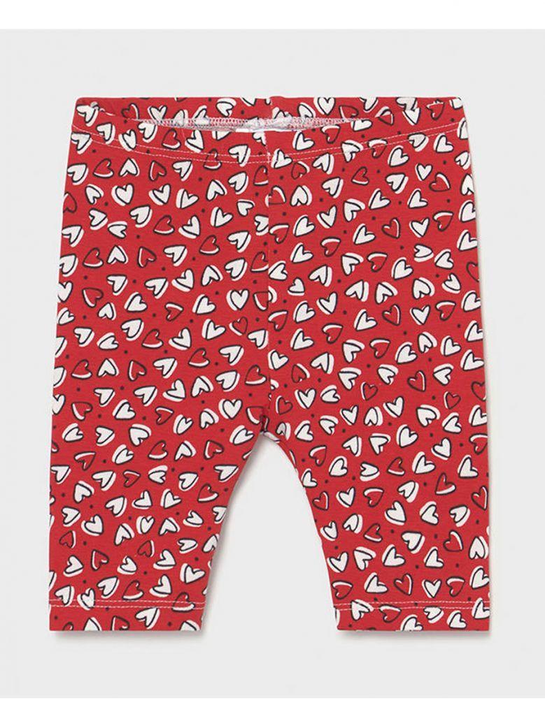 Mayoral Baby Red Heart Print Leggings