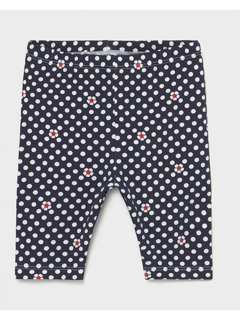 Mayoral Baby Navy Polka Dot Print Leggings