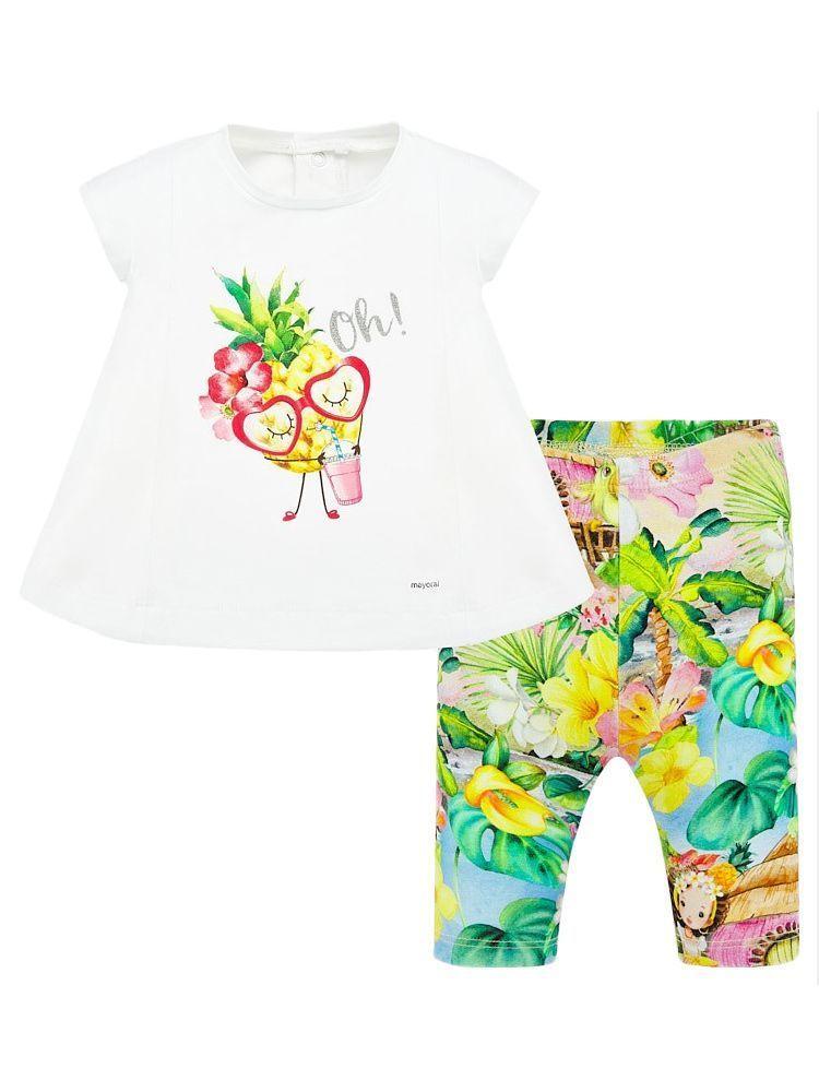 Mayoral Pistachio Sleeveless T-Shirt and Leggings Set