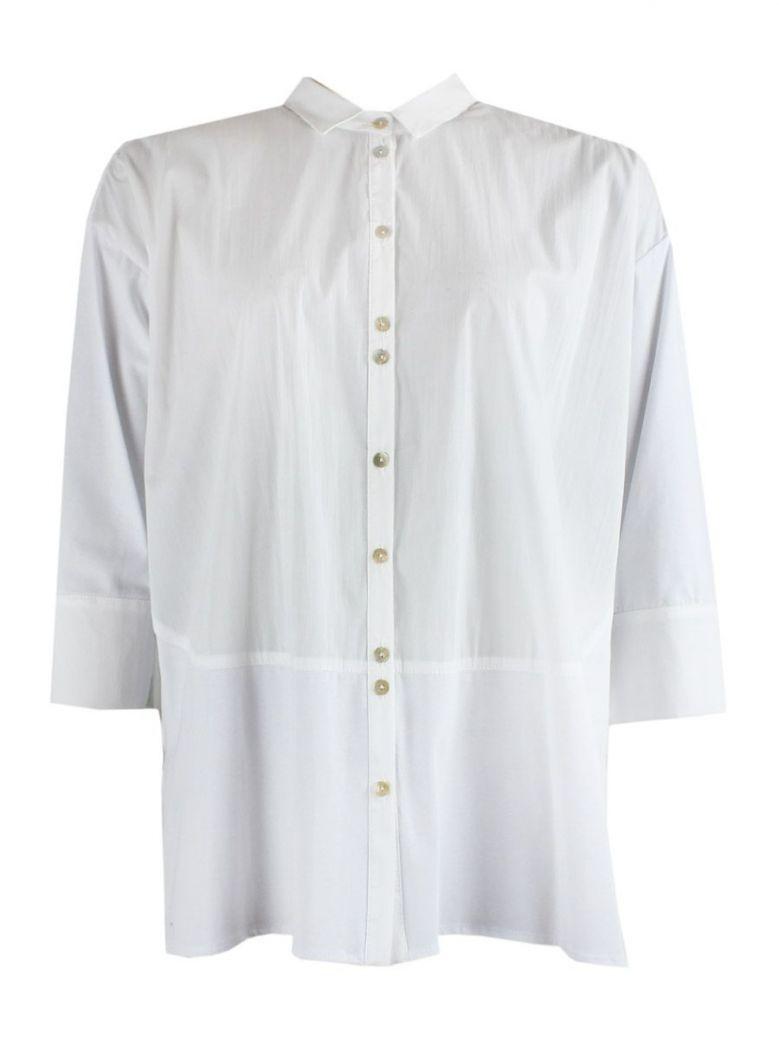 Peruzzi White Long Length Blouse