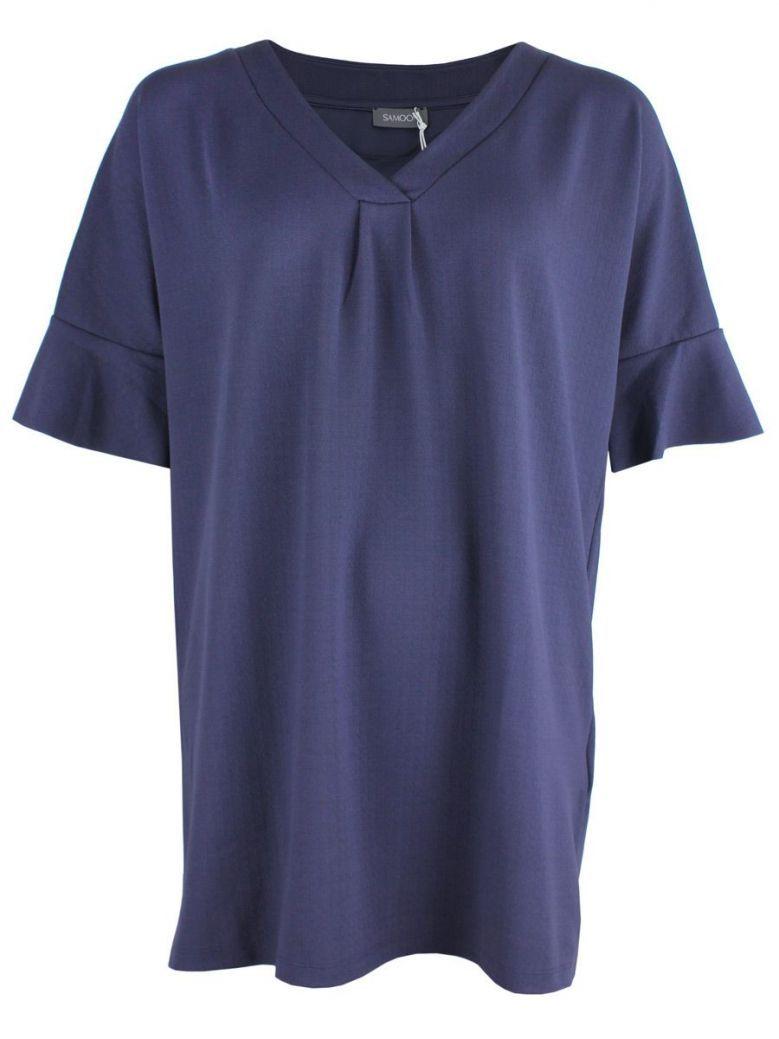 Samoon Navy Short Sleeved Tunic