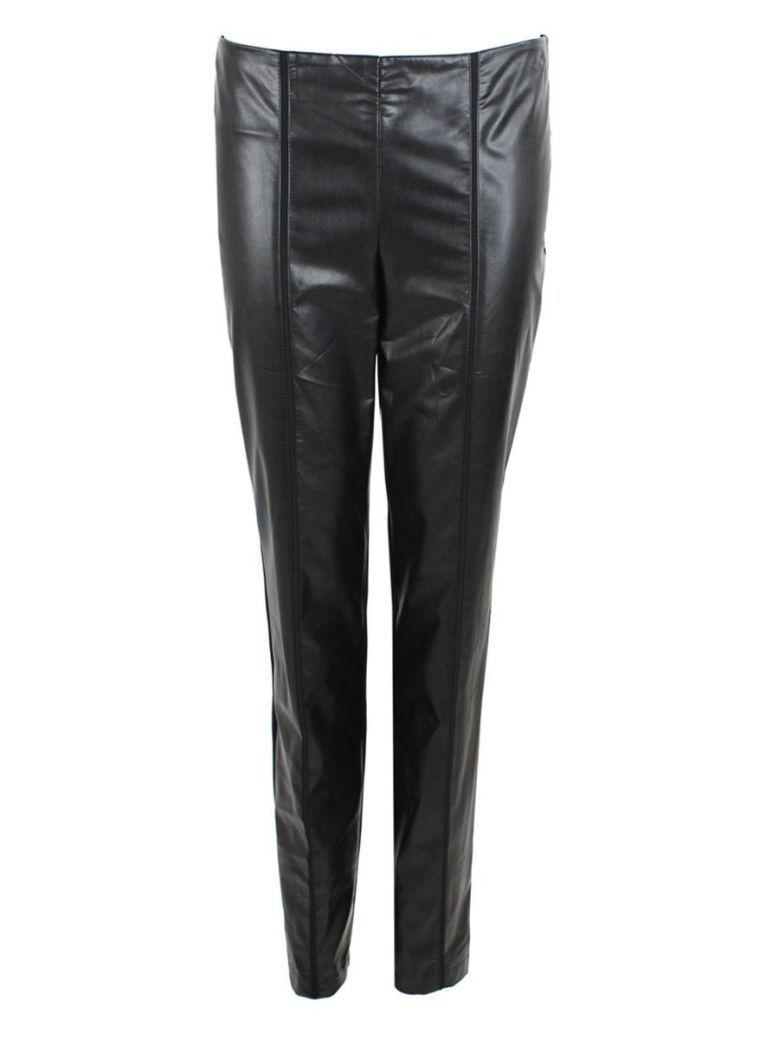 Frank Lyman Black Leatherette Front Slim Fit Trousers