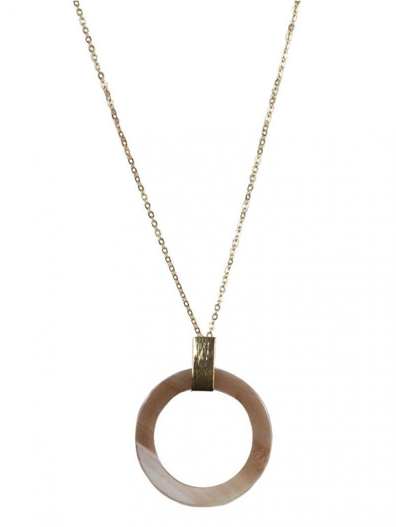 Big Metal London Blush Alice Horn Necklace