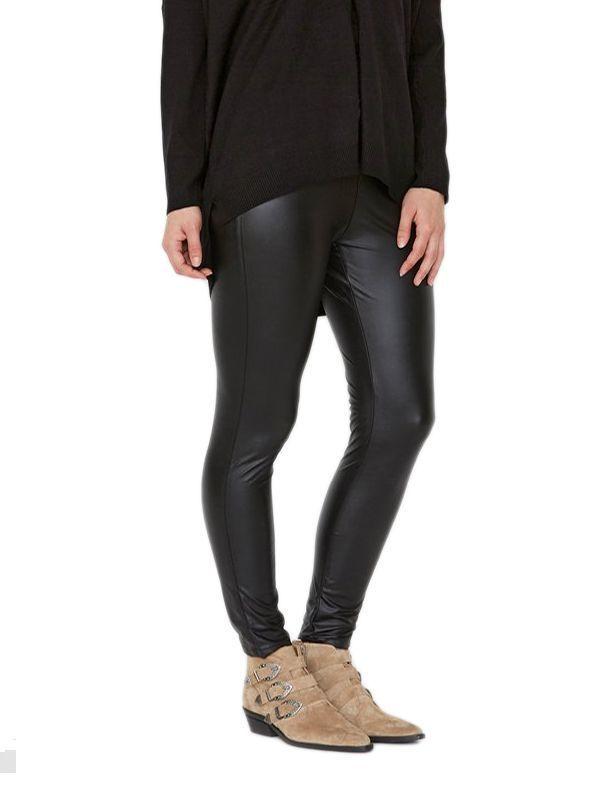I Say Black PU Helga Trousers