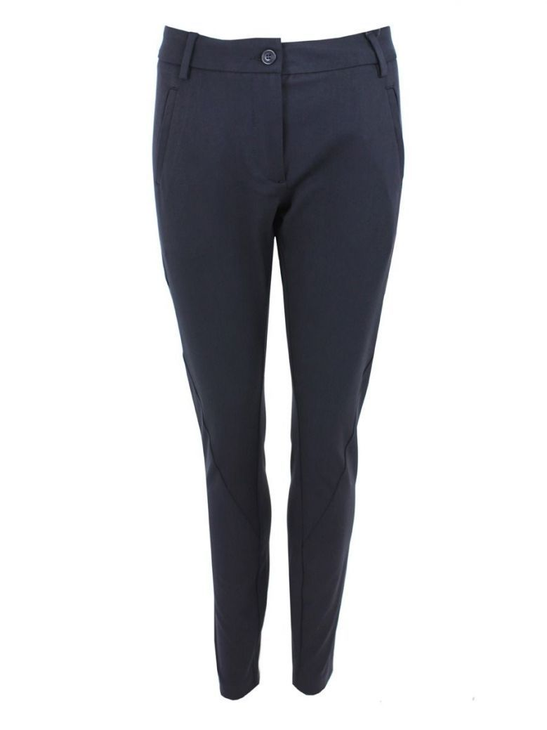 I Say Navy Regular Fit Stretch Trousers