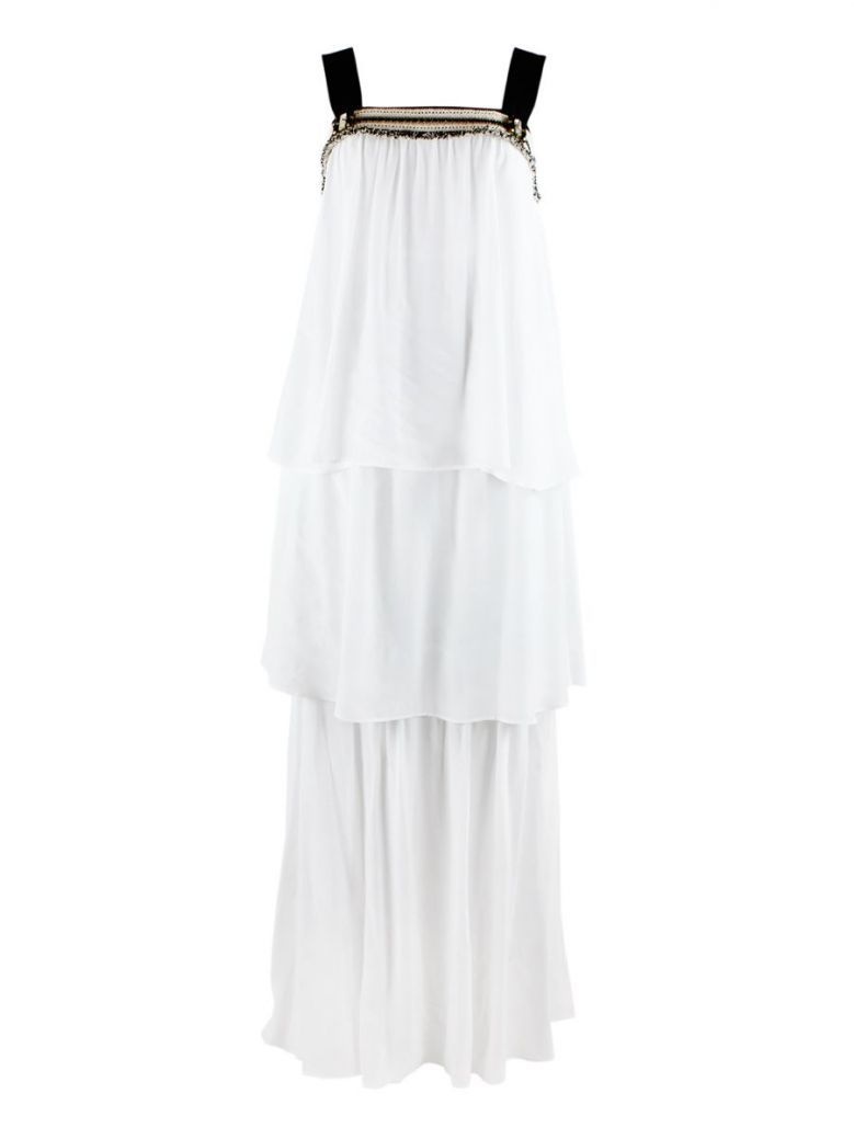 SPELL White Layered Dress