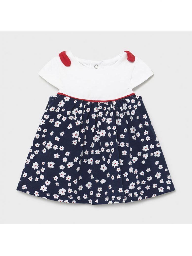 Mayoral Navy Flower Print Dress