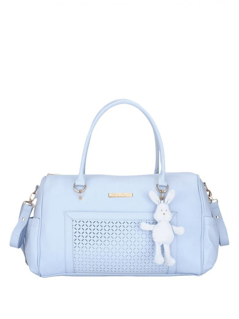 Mayoral Baby Blue Changing Bag With Bunny Charm