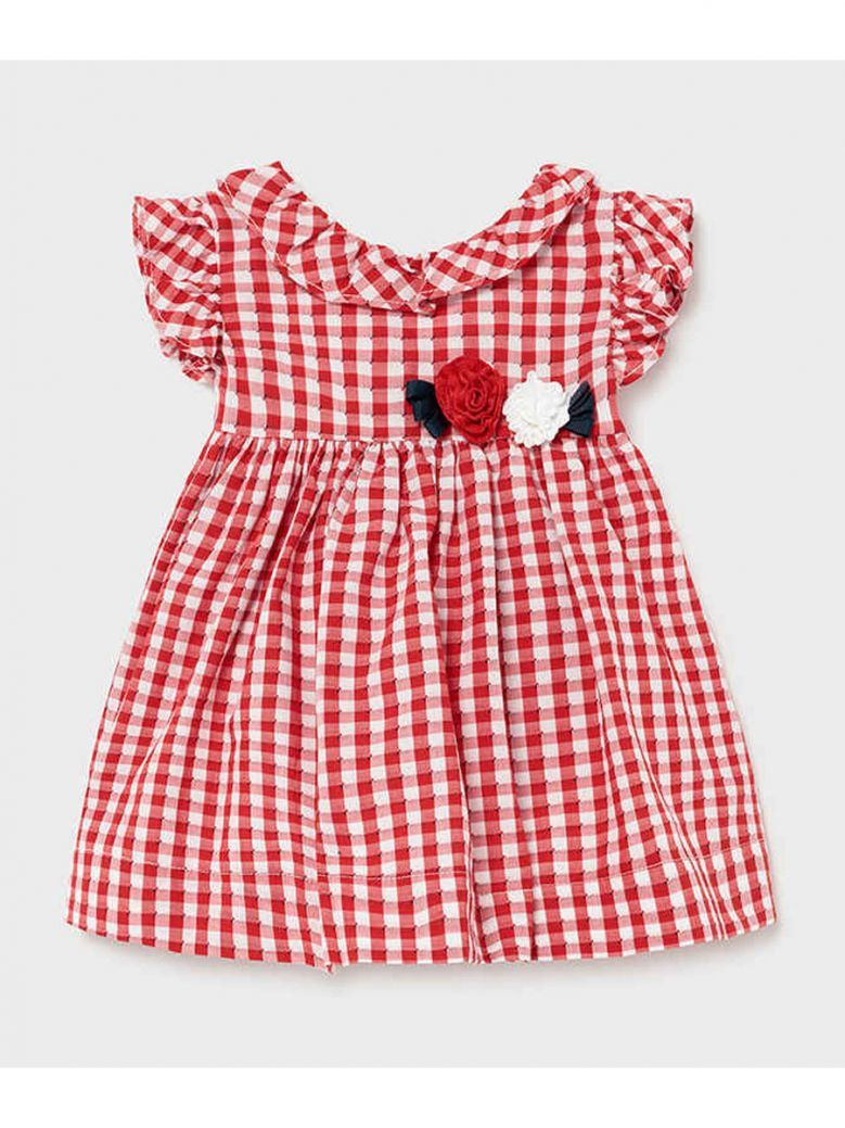 Mayoral Red Gingham Check Dress