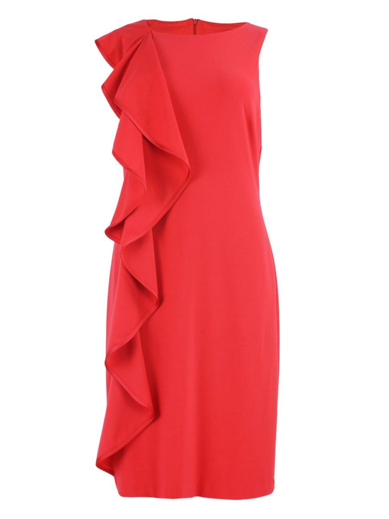 Frank Lyman Cherry Red Ruffle Dress