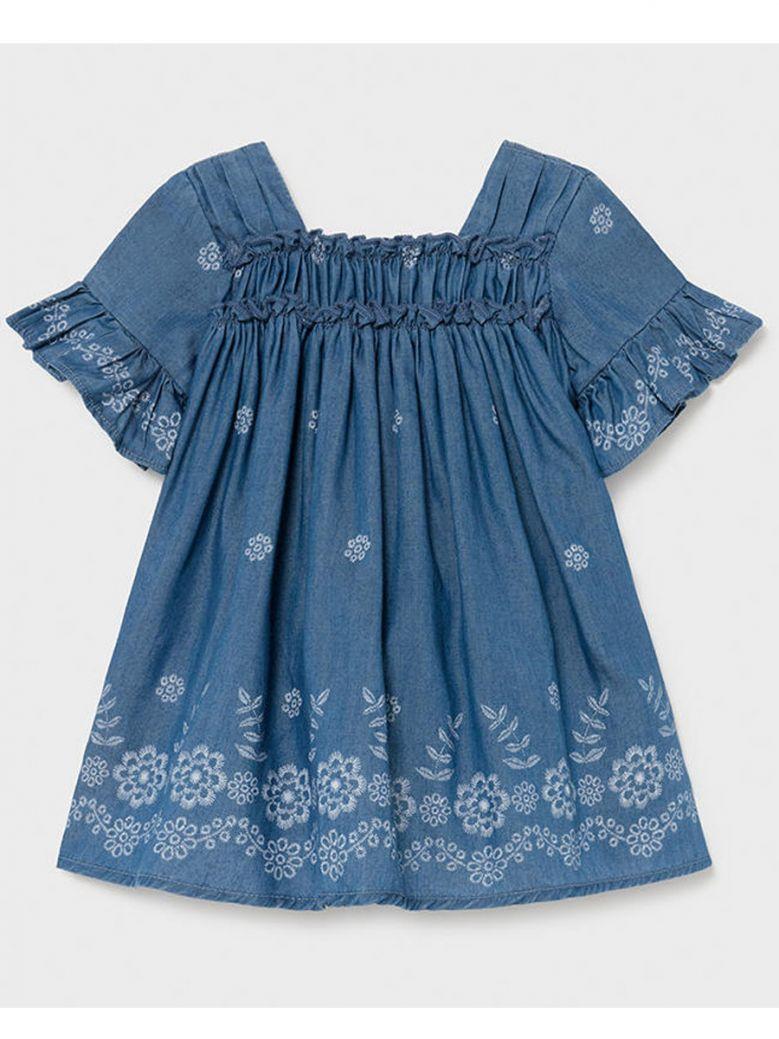 Mayoral Soft Denim Short Sleeve Dress