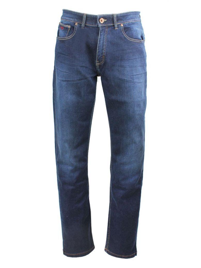 Mish Mash Mid Blue Tapered Flex Jeans