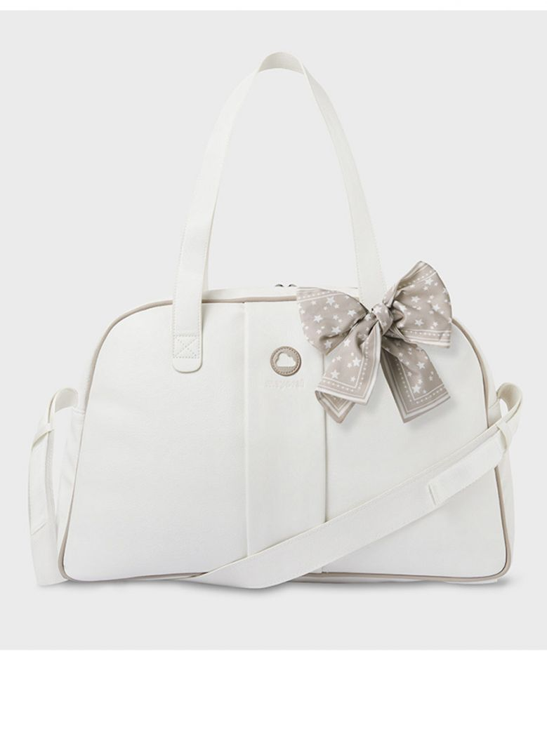 Mayoral Cream Bow Detail Baby Changing Bag