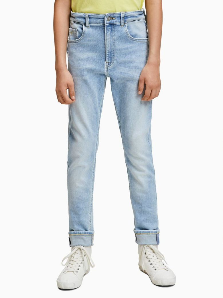 Calvin Klein Jeans Luster Light Blue Stretch Tapered Jeans
