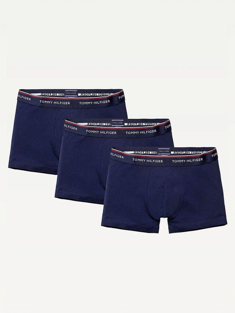 Tommy Hilfiger Peacoat Navy 3Pk Cotton Stretch Trunks