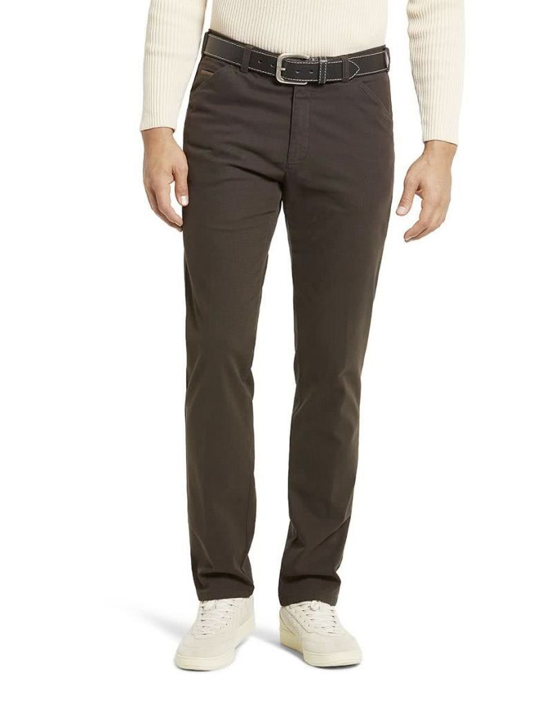 Meyer Brown Chicago Two-tone Microstructure Cotton Chinos