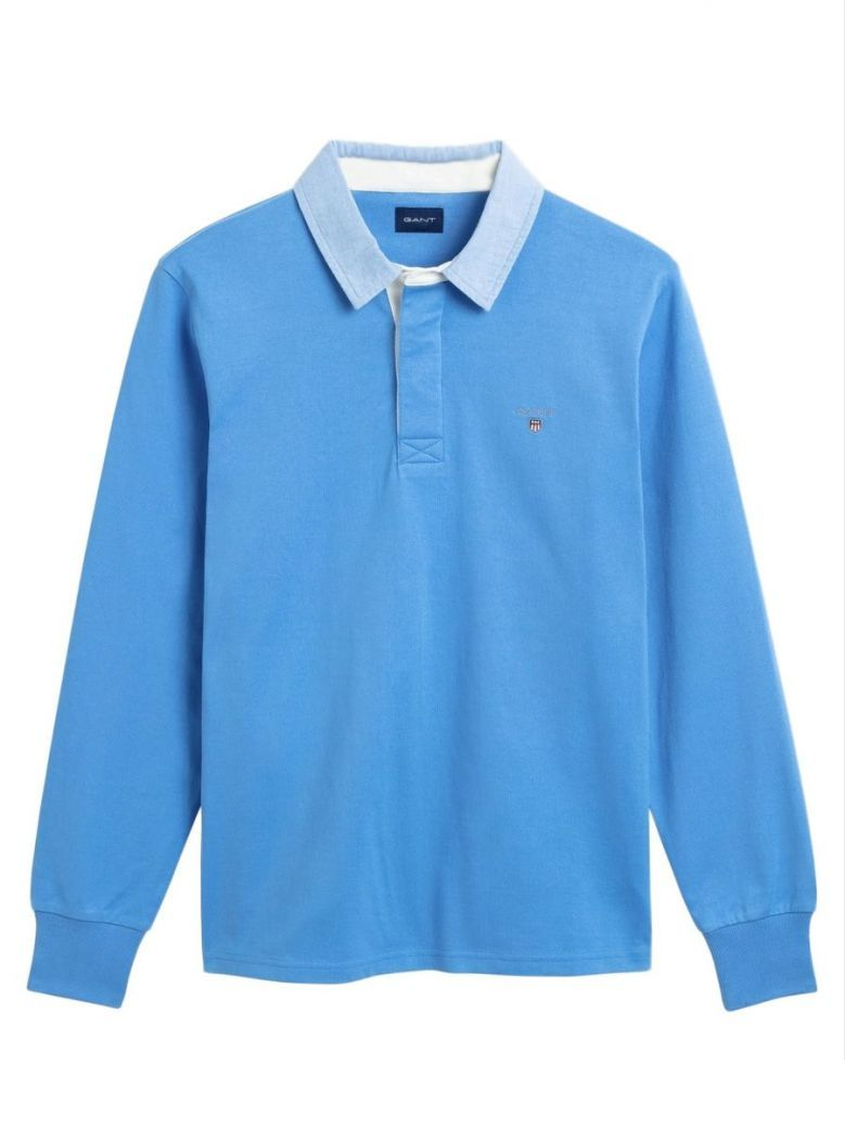 Gant Pacific Blue Rugby Shirt