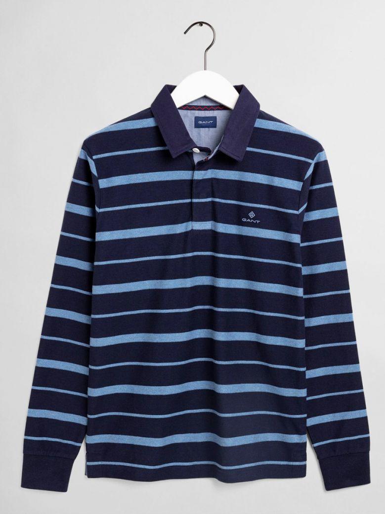 Gant Classic Blue Breton Stripe Heavy Rugger