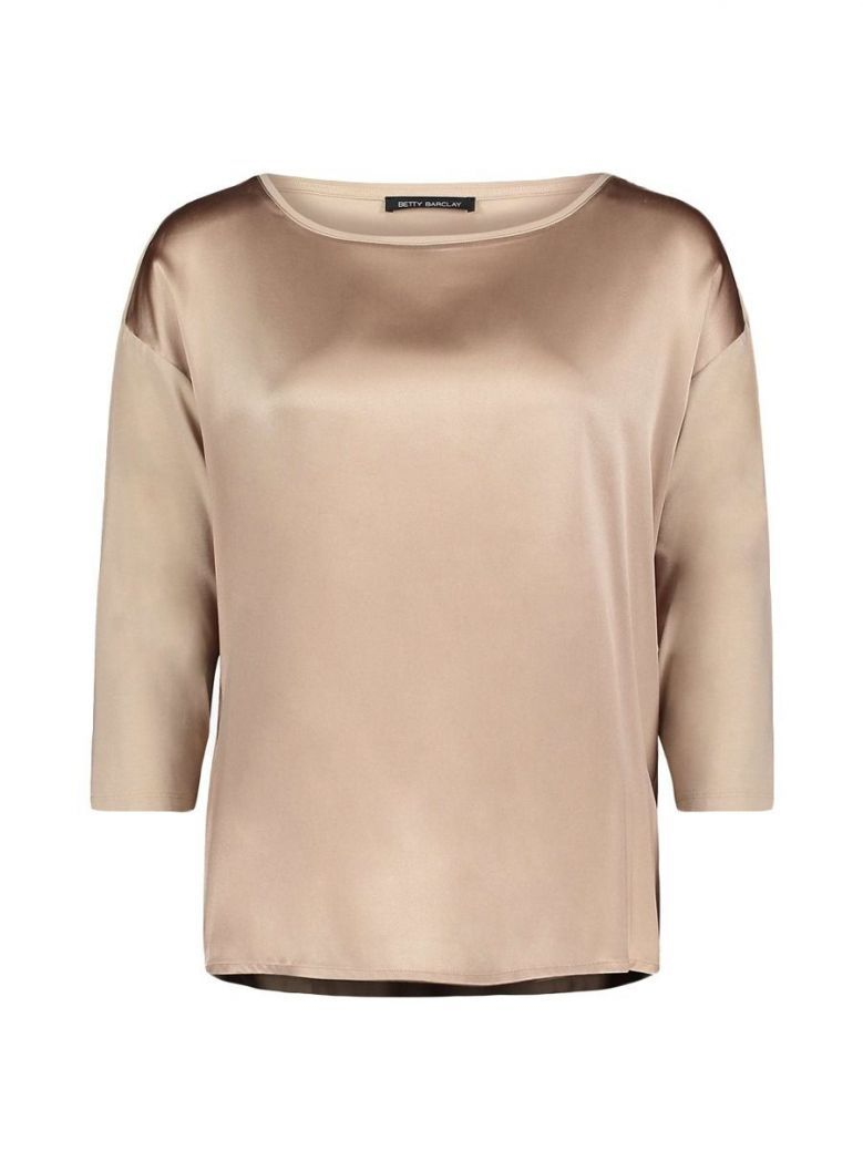 Betty Barclay Gold Satin Jersey Top