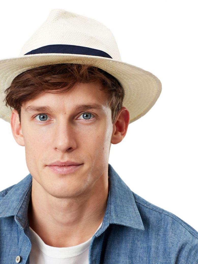 Joules Cream Panama Woven Hat