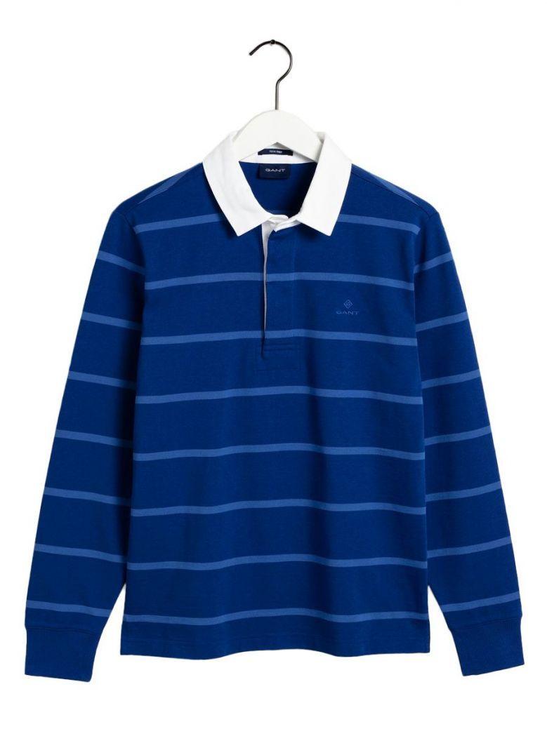 Gant Crisp Blue Tech Prep Rugby Shirt